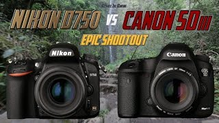 "Nikon D750 vs Canon 5Diii Epic Shootout Review | Which camera to buy? | Tutorial Training(Be sure to look me up on Instragram! http://instagram.com/michaelthemaven The opening music is called ""Sinister Intent"" by Danny Locke and it was licensed ..., 2014-11-13T01:45:13.000Z)"