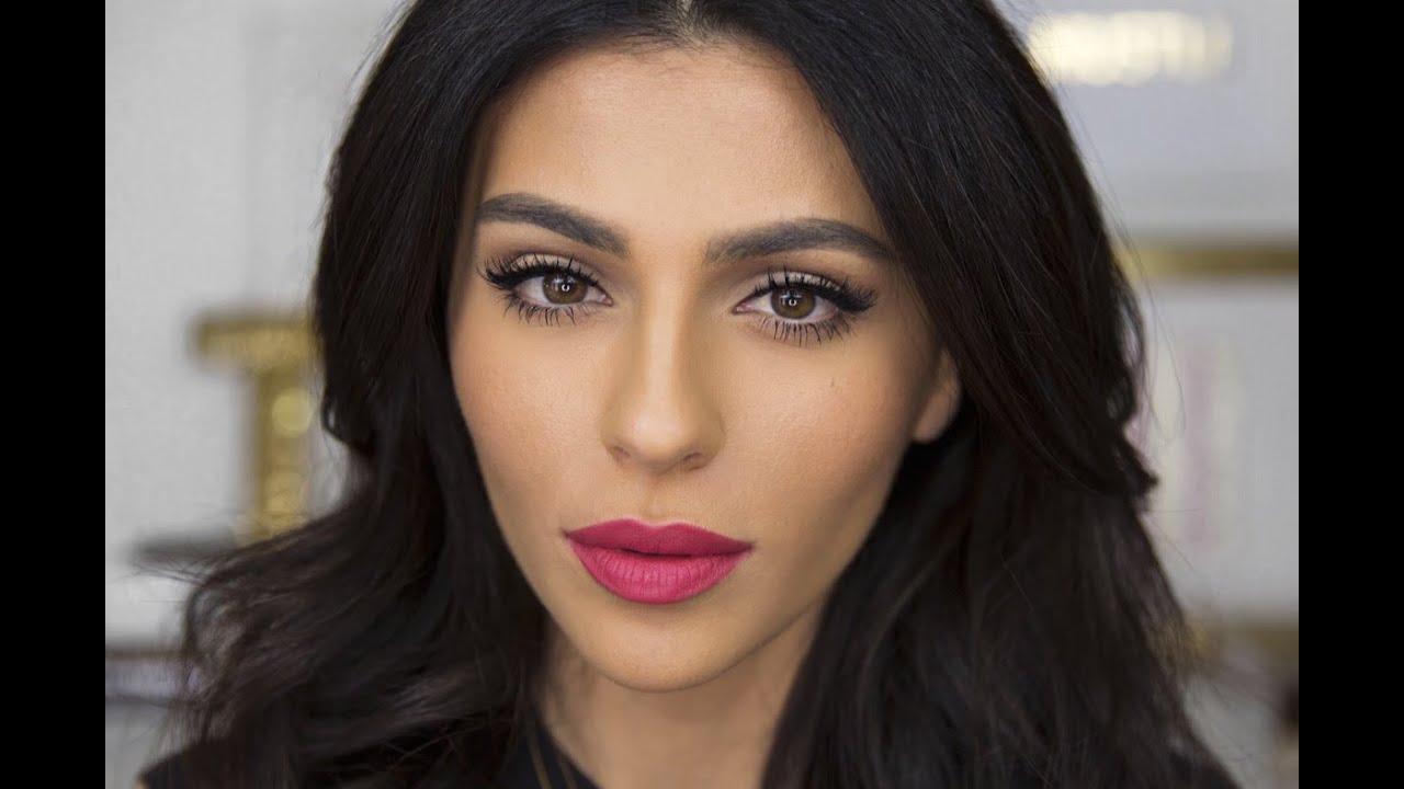 everyday cat eye bright lips lipstick tutorial teni