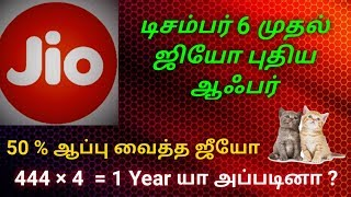 Jio New Plans | December 6 | 2019 | 444× 4 offer in tamilKitty Info4You | Tamil