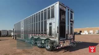 Wilson Air Operated 3-Position Lift Deck (Storage, Hog Rail & Belly) -  YouTube | Wilson Cattle Trailers Hauler Wiring Diagram |  | YouTube