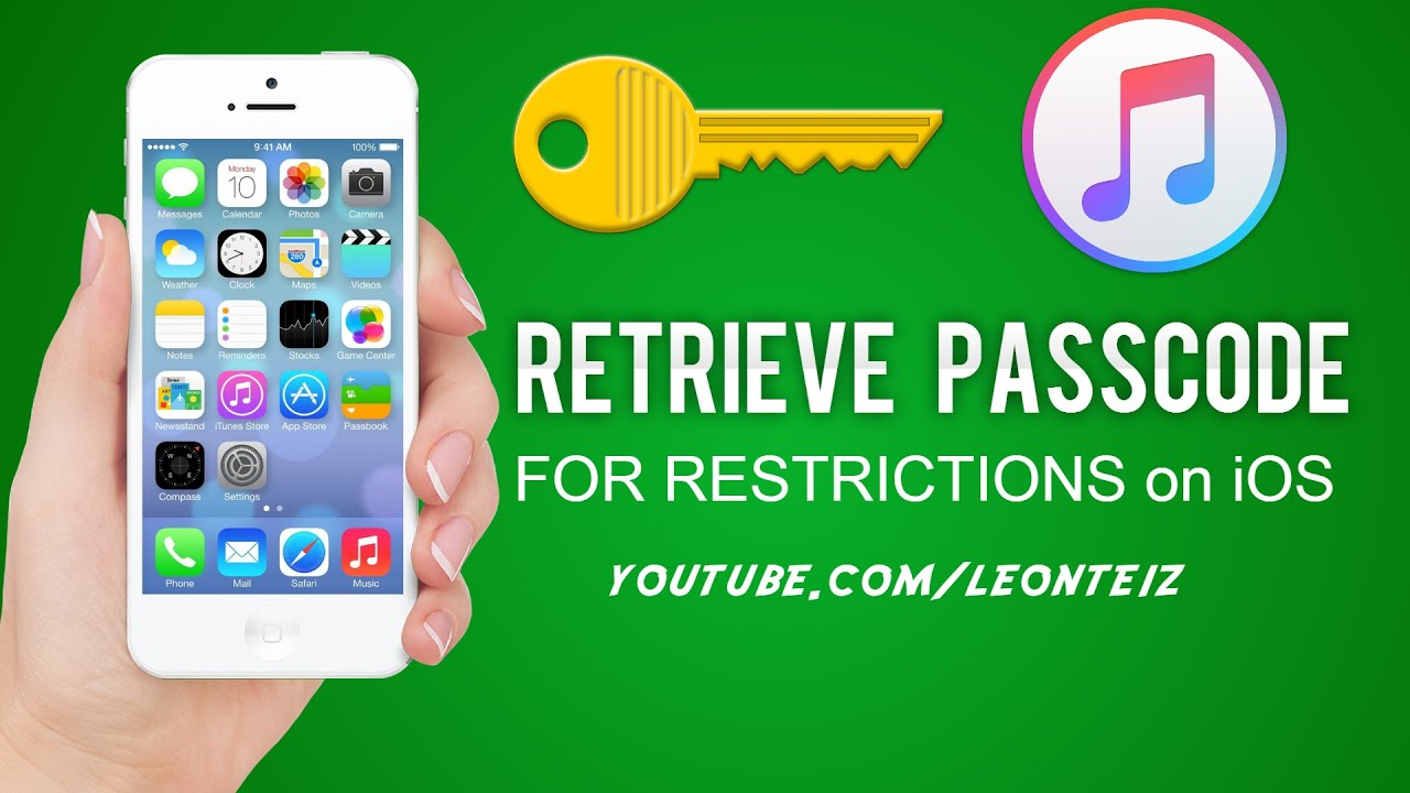 How To Retrieve Restrictions Passcode On All Iphones And Idevices All Ios   Youtube