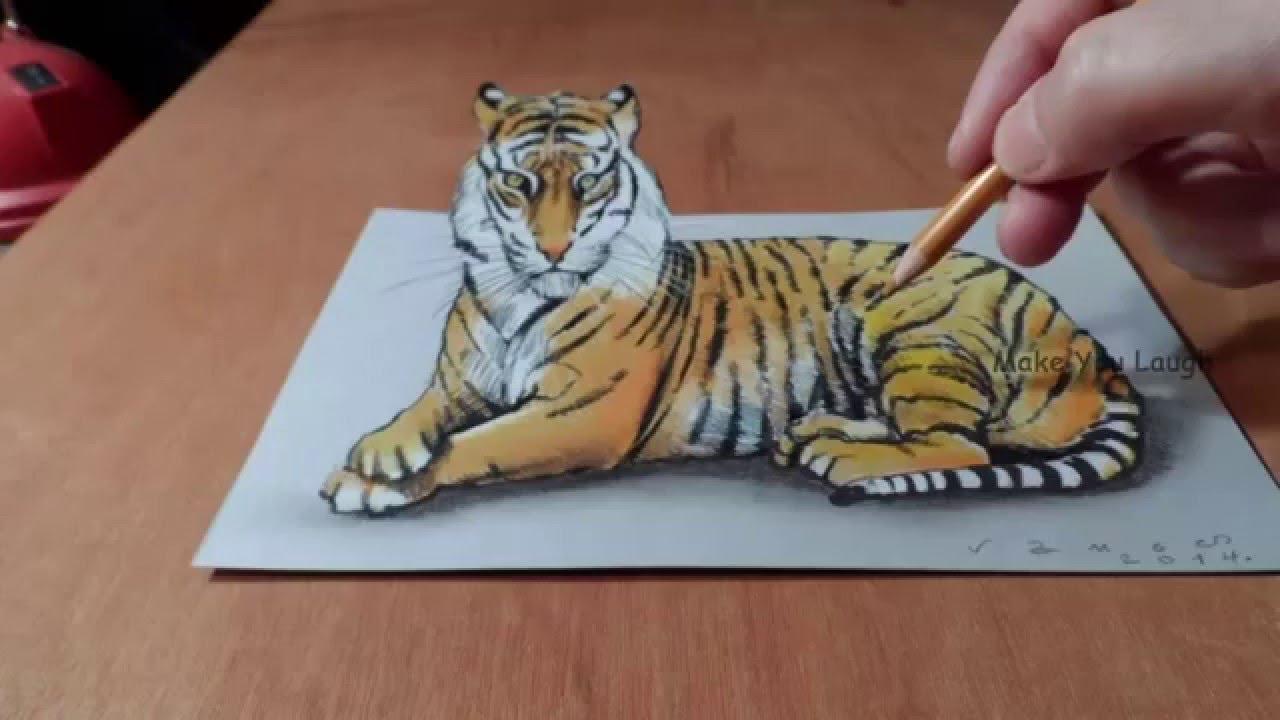 Top 50 3D Art   Best 3D Pencil Drawings Images - YouTube