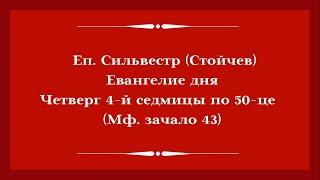 Еп. Сильвестр (Стойчев). 2 июля 2020 года. Евангелие дня с толкованием