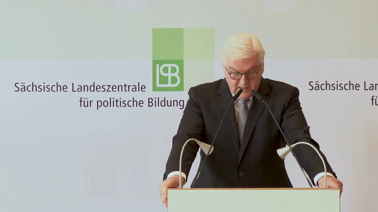 Youtube Video: Bundespräsident Steinmeier fordert offene Debatte
