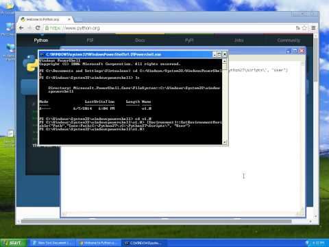 How to install Python, Setuptools, Pip and Virtualenv on Windows in 5 minutes (XP / 7 / 8)