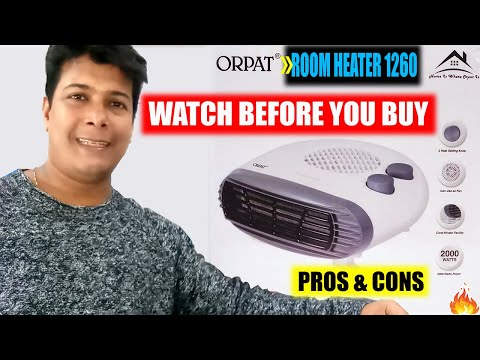 ORPAT OEH - 1260 FAN ROOM HEATER : UNBOXING, DEMO & REVIEW ! Orpat Room Heater - 1260 Price