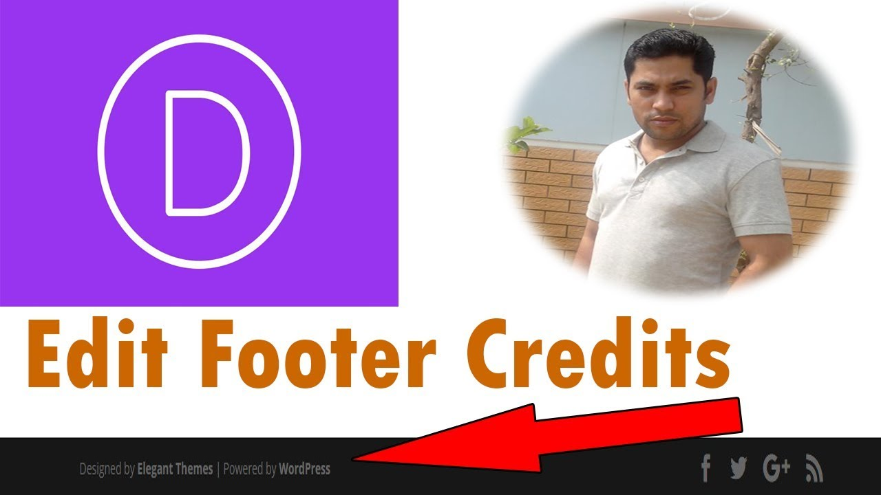 How to Edit Footer Copyright Text In Divi Theme
