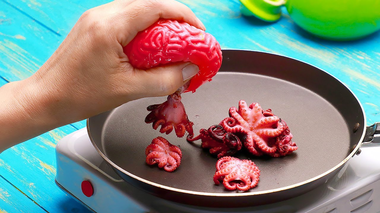 ASMR Octopus With Slime Sauce   Reveal The Secret Of Video Creation 🐙