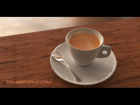 Making an Espresso with 3D Studio Max & Corona Renderer