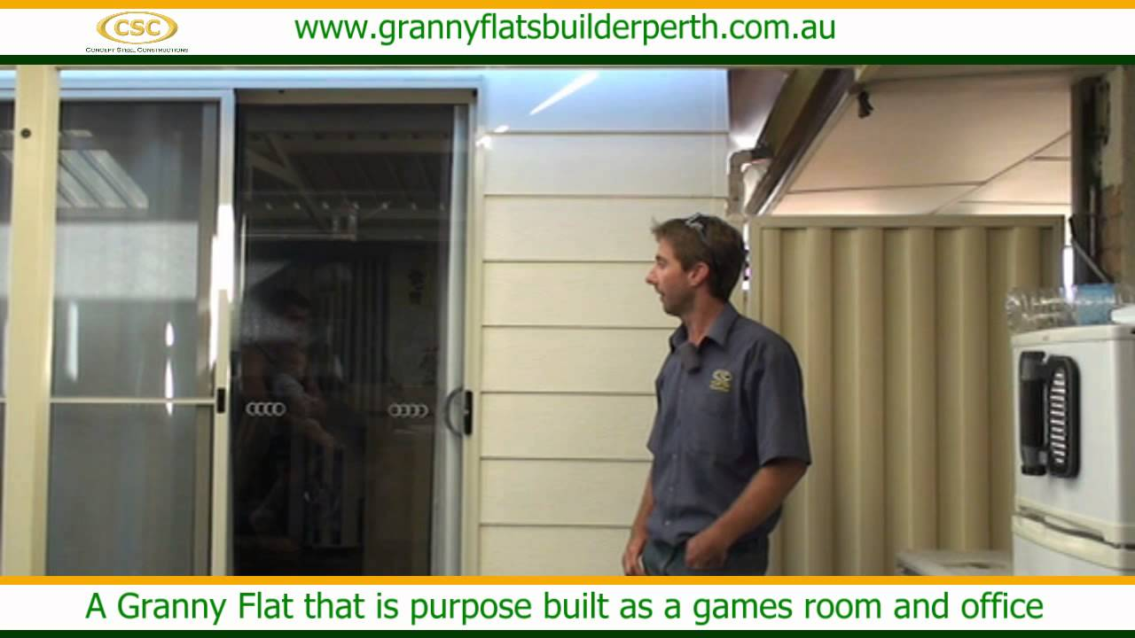 a granny flat that is purpose built as a games room and office