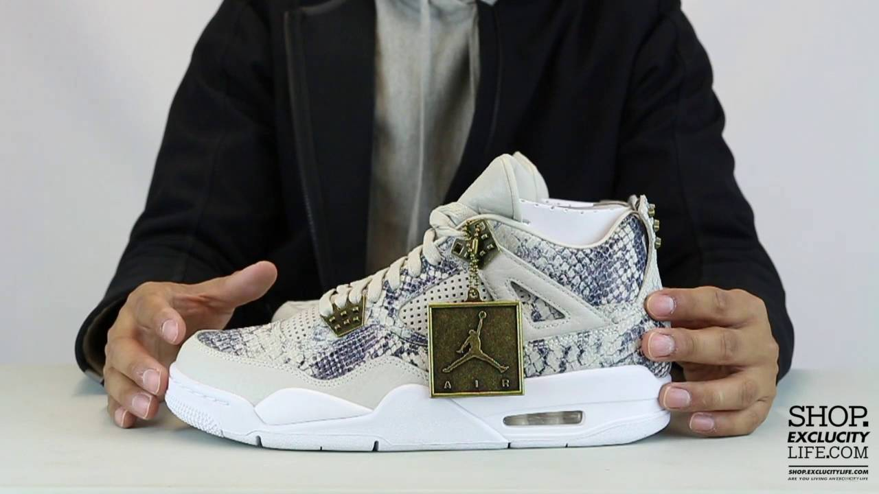 2265e9e640ac ... australia air jordan 4 retro premium snakeskin unboxing video at exclucity  youtube d8084 09e23