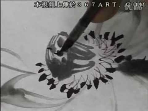 Lotus Chinese Painting in Spontaneous Style 3/6