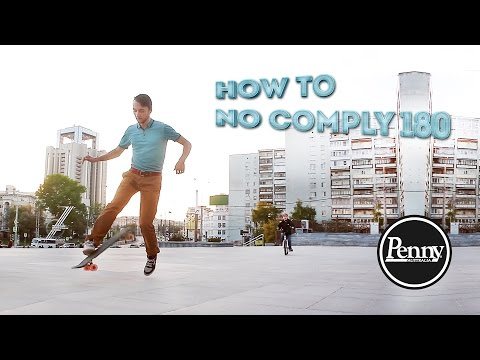 Penny board трюки: no comply 180 // Школа #07