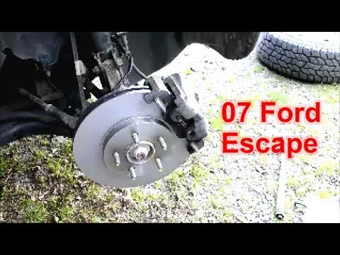 Ford Escape Front Brake Rotors And Pads Replacement 01 07