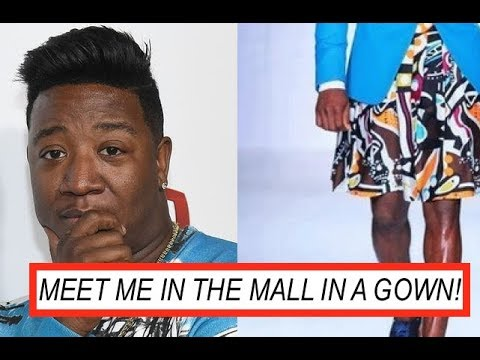 Yung Joc Spotted in BLUE DRESS Meet Me in Trap its Going Down to Meet Me in Mall in a GOWN