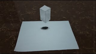 How to Draw 3D Trick Art Draw Cube For Kids