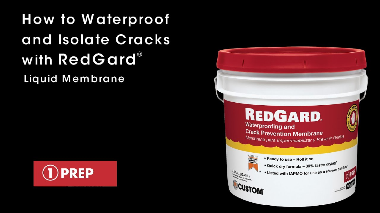 How To Install Redgard Waterproofing And Prevention Membrane