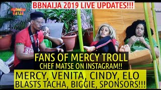 BBNaija 2019 LIVE UPDATES | MERCY IS BITTER TACHA'S TEAM WON 1 MILLION | VENITA INSULTS BIGGIE