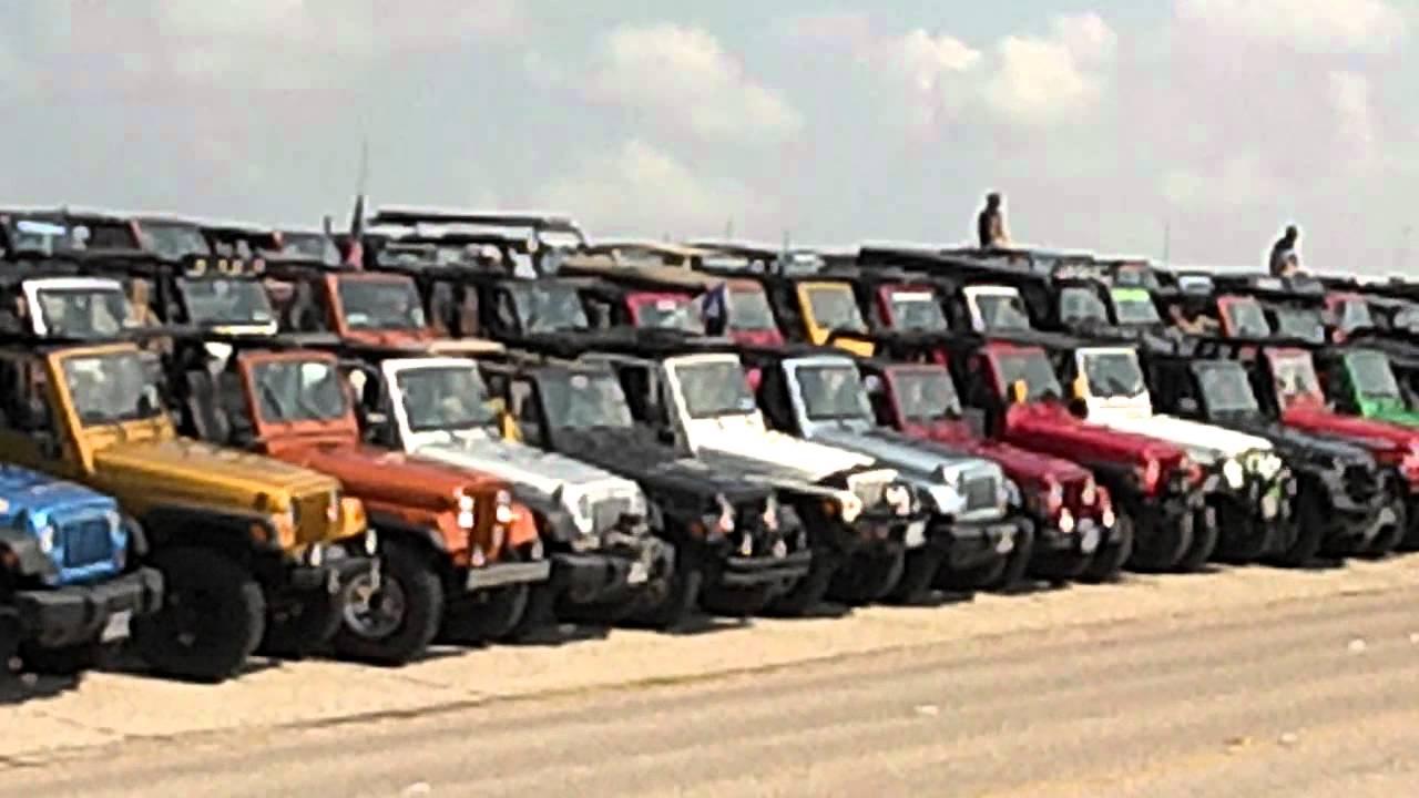 2012 Go Jeep Day Galveston, Texas - YouTube