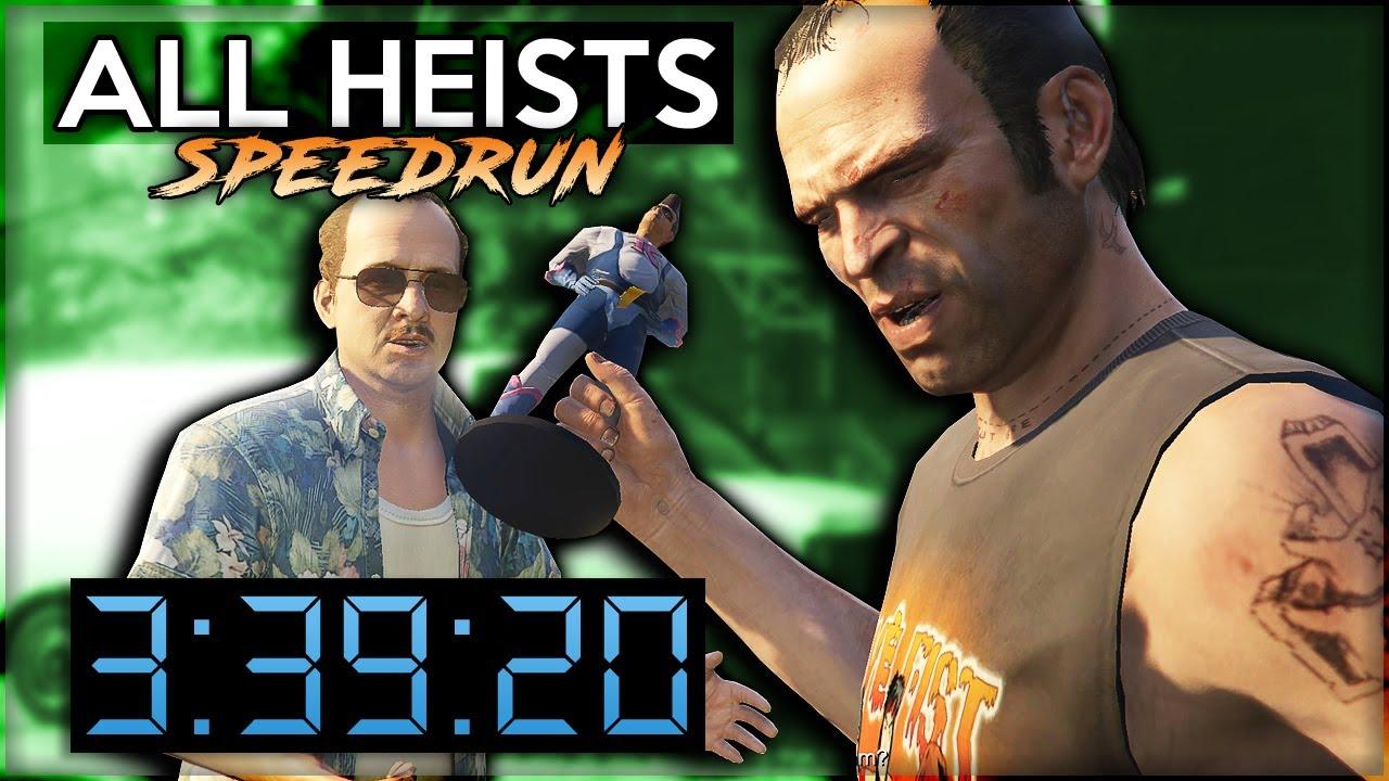 GTA 5 / Online Heist Speedrun - All Heists in 3:39:20
