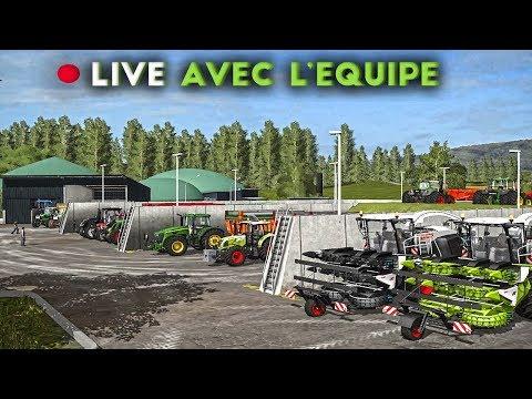 Farming Simulator 17 - Big Ensilage avec l'équipe ! [LIVE]