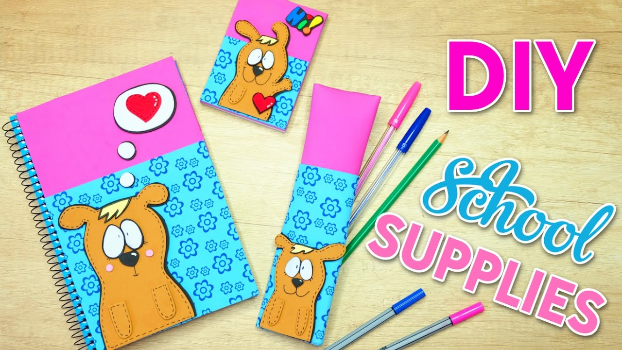 Diy school supplies easy crafts for back to school youtube for School diy ideas