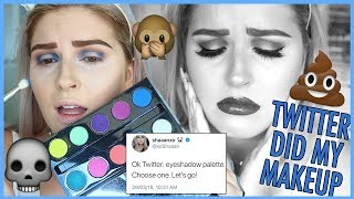TWITTER DOES MY MAKEUP ⁉️😂 NEW Makeup Challenge
