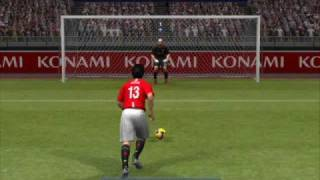 PES 2009 - Liverpool vs Manchester United Penalty Shootout.