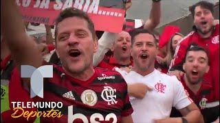 ¡Fiesta total! Así festejan hinchas de Flamengo título de Libertadores | Telemundo Deportes