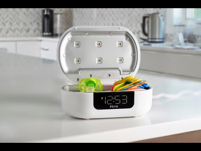 iHome Health POWER UVC PRO (iUVBT1)- UV-C Sanitizer with Bluetooth Speaker and Dual USB Charging
