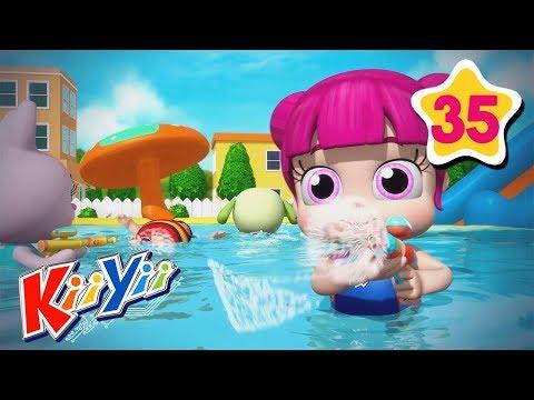 swimming-song-|-abcs-and-123s-|-by-kiiyii-|-nursery-rhymes-&-kids-songs