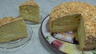 Бисквитный ТОРТ Крем со Сгущенкой рецепт sponge cake Кулинарный Клуб