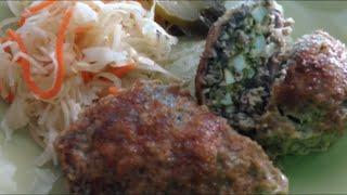 ЗРАЗЫ  запечённые в формах. Мясные с яично-сырной начинкой