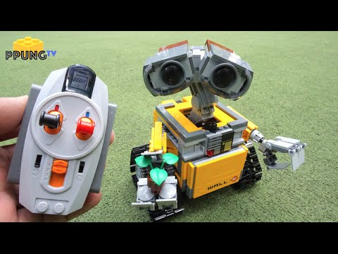 Lego Wall E 21303 Rc Motorized Wall E Review By Youtube