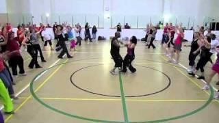 Blake TV Dances with Yahaira Rodriguez 4 Zumba Salsa routine at UAB