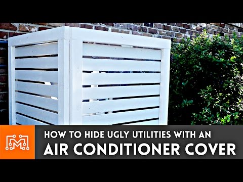 How to make an air conditioner cover fence