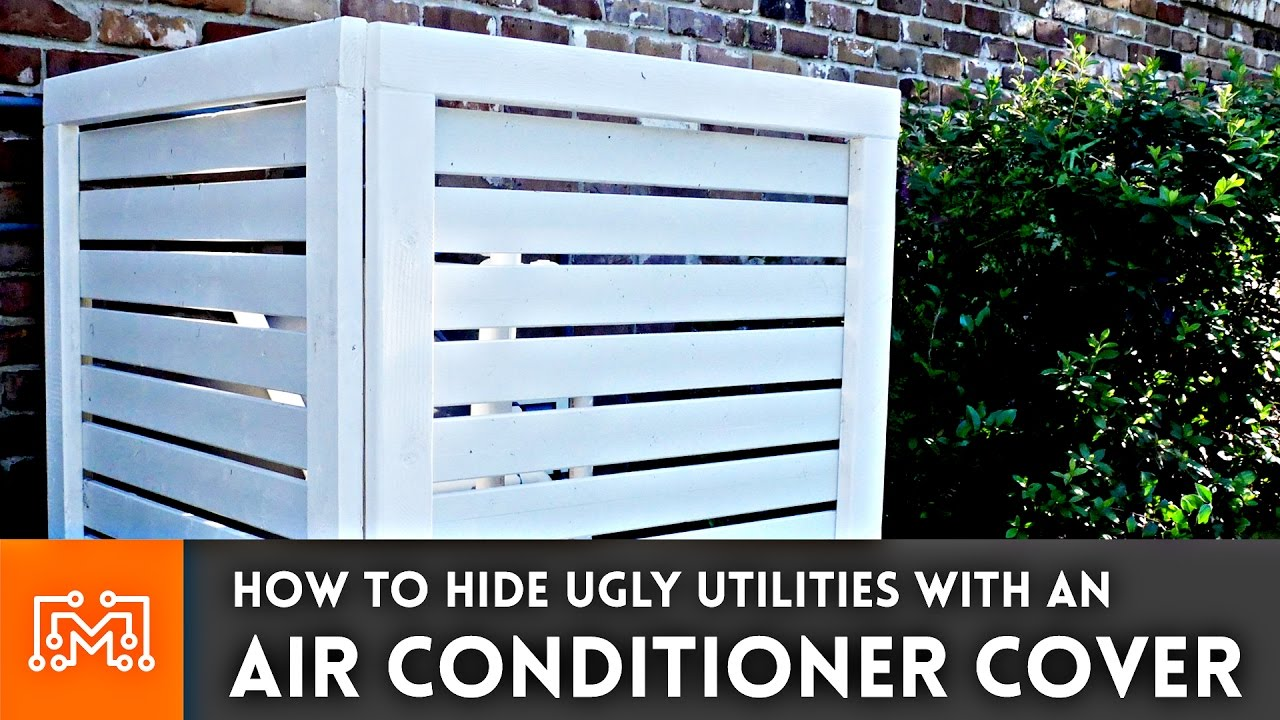 How To Make An Air Conditioner Cover Fence Youtube