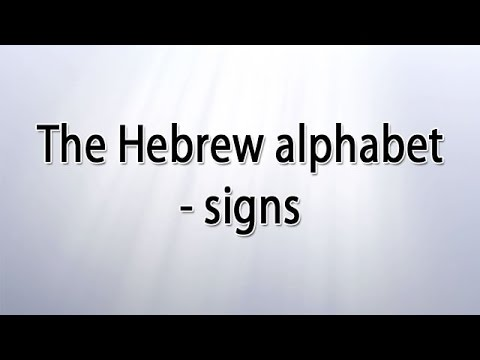 Hebrew alphabet letters - each one points to the Messiah