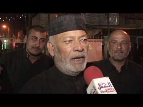 مراسل قناة الكفل علاء الثرواني لقاء مع مسئول المواكب الحسينية في ناحية الكفل الحاج خضير الجبوري