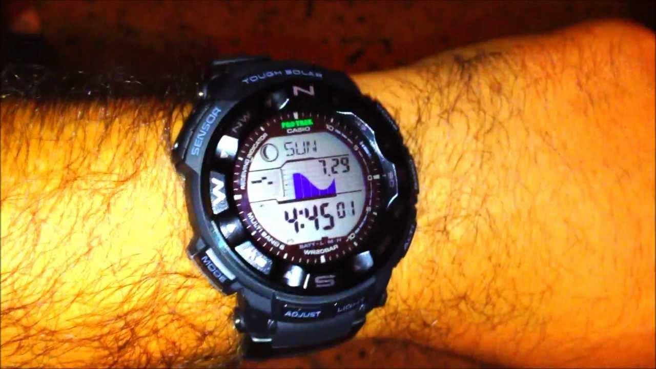 How To Turn On Auto Lighting Casio Pro Trek Watch Youtube Protrek Prg 280 2 Original