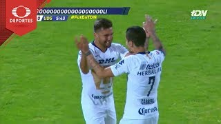 Gol de Iniestra | Pumas 1 - 0 U. de G. | Copa Mx - J6 - Cl 19 | Televisa Deportes