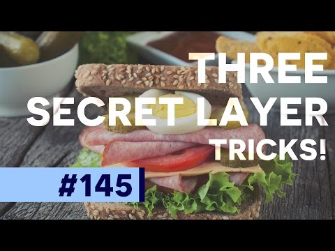 Three Secret Layer Tricks in Photoshop CC  | Educational