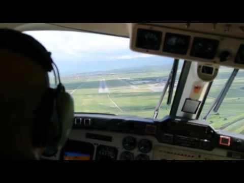 Extreme Crosswind Landing Beechcraft King Air 350 Pristina Airport, Cockpit View