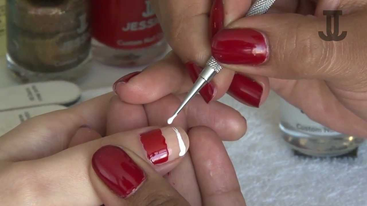 Paso a paso: diseño de Santa Claus en uñas. - YouTube