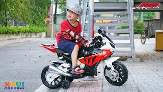 Xavi Unboxing and Assembling BMW S1000 RR Mini SportBike - Battery Powered Motorcycle Toys for kids