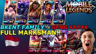 BKENT FAMILY VS GENG KAPAK FULL MARKSMAN! PUBLIC VS MANTAN PRO PLAYER! BANTAI!