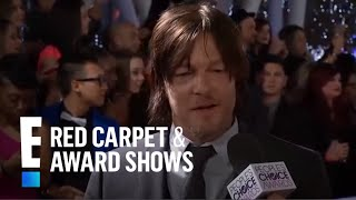 Norman Reedus Wins on the Red Carpet