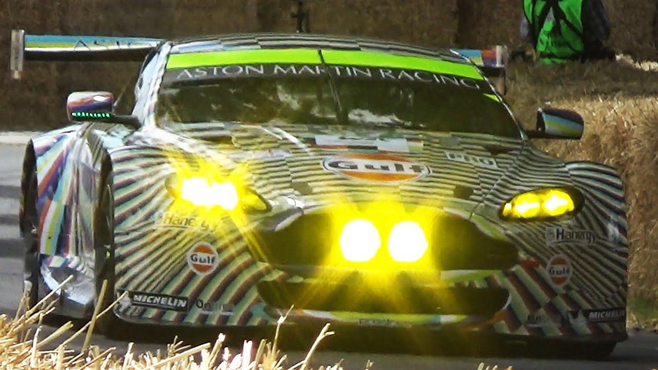 Exceptional #97 Aston Martin V8 Vantage GTE Art Car!   Great V8 Sound On The Track!