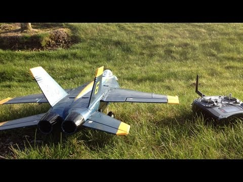 Stunts and Tricks with the Blue Angel F-18 Hornet 64mm EDF Jet RC Jet