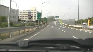 吹田IC(インターチェンジ)で名神高速道路から中央環状線に出てみました!!途中、ナイスタイミング(1分53秒付近)で大阪モノレールが走ってくれます!!
